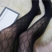 Femmes Collants Lettre classique Silk Stockings Fashion Special Bas Tatouage Collant Sexy Lady mince Femme Chaussettes Bonneterie