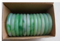 Lot Jewelry jade gemstone verde Pulseiras vintage bracelete charme