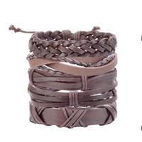 Многослойный кожаный браслет для мужских браслетов браслетов браслетов браслетов