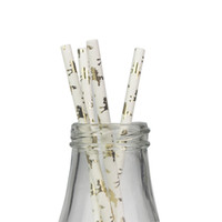 100 pz Cavallo Unicorno Paglie di carta Biodegradabile Cannucce di carta Cannucce per feste di festa di nozze