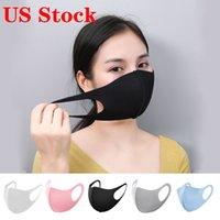 ABD Stok! Tasarımcı Ağız Yüz Siyah Pamuk Erkek Kadın FY9041 için Karşıtı Toz ve burun koruma K-POP Maske Moda Yeniden kullanılabilir Maskeler Blend Maske