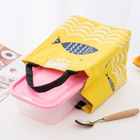 Fish Pattern Thermal Lunch Bag for Woman Insulated Lunch Bag...