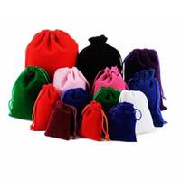 17 * 23см Большой Drawstring сумка Свадебный макияж ювелирных изделий Packaing подарков Velvet мешок мешок для хранения сумки LJJA3377
