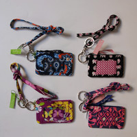 VB Lanyard With ID Zip Case Cotton Card Holders Retired Patt...