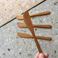 100 pezzi di bambù coltello Natura coltelli fatti a mano durevole Catering Party barbecue Camping viaggio di nozze compleanno Cafe casa Bar Ristorante alimentazione