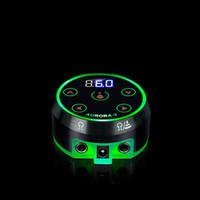Professional Mini LCD Tattoo fonte de alimentação com adaptador de energia sem pedal da máquina do tatuagem de alimentação para a bobina Rotary Tattoo Machines