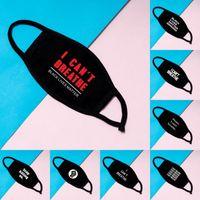 Masque imprimé Lettre Designer Masque Visage Black Lives Masque Coton Masque anti-poussière coupe-vent FY9131