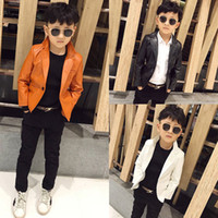 Children' s wear Leisure PU Leather suit 2019 child Leat...