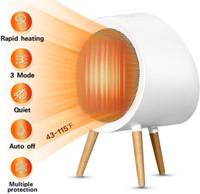 Espace céramique intelligent de chauffage électrique Mini Chauffage d'appoint avec thermostat Tip-sur Surchauffe protection pour la maison ou bureau Chambre
