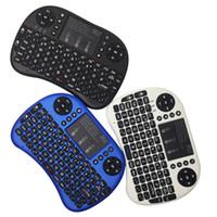Nuevo que teclado de Rii mini i8 + 2.4GHz ratón inalámbrico con touchpad Panel táctil con retroiluminación LED Combo de ratón teclado recargable Li-ion