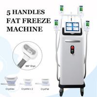 İleri Teknoloji Cryolipolysis Uyluk For Love Birlikte Vücut Yağ Freeze Makinası 4 el aparatları Work Soğuk Zayıflama Cryo Çift Çene Kaldırma kolları