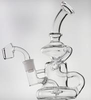"""8 """"стеклянный рециркулятор ELVIS KLYIN Стекло бонг с кварцевым Бэнгер или большая чаша нефтяной выгрешкой DAB Водопроводная труба Cokahs 14.5mm Соединение"""