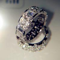 تألق كامل الزركون خواتم الزفاف للنساء أعلى جودة S925 الفضة والمجوهرات جيلير حزب هدايا حلقة حجم 6 7 8 9 10 باجي فام