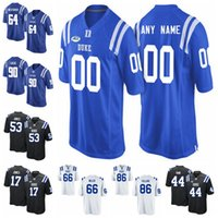 Duke Blue Devils College Football Jerseys T.J. Rahming Jersey Mens Myles Hudzick Johnathan Lloyd Nicodem Pierre Aaron Young costurado personalizado