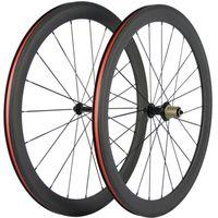 عالية الجودة 50MM عمق الكربون عجلات 700C الفاصلة دراجات العجلات دورة 3K ماتي 23MM عرض R13 المحور