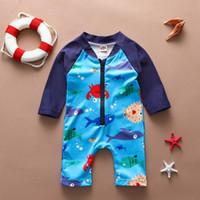 2020 verão bebê swimwear toddler crianças swimwear para bebê meninos casuais desenhos animados swimsuit jumpsuit banho outfits