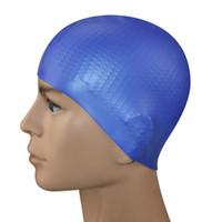 Новые взрослые силиконовых плавательных шапочки твердые цветные частицы анти-занос однополых водонепроницаемого плавания производителей колпачковых оптовые Плавательные шапки