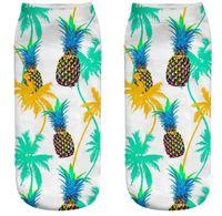 горячая 3d мультфильм цифровой печати фрукты носки арбуз ананас клубника лимон печать повседневные носки женщины мужчины спорт хлопок экипаж носки