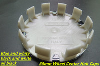 4pcs 고품질 블루 / 화이트, 블랙 / 화이트 휠 센터 캡 배지 엠블럼 68mm 10 클립 BMW 시리즈 3,4,5,6, X, E30 E45 Z4 318 DHL