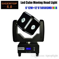 Freeshipping 90W LED Moving Head Cube Lichtstrahl Scanner Effect Power In / Out-Buchse Endlose Rotation Tilt Osram RGBW 110V-220V