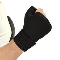 Coupeaux à genouillère 1 paire douce respirable de demi-doigt ajustable Gant de gant Protecteur Sport Universal poignet Paumeur Pull Pull Brace Wrap