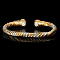 Luxus gesunder Magnet-Armband für Frauen-Mann-Therapie Magnets Edelstahl-Armbänder Element Armbänder