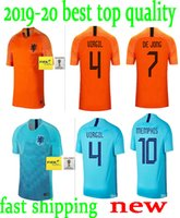 9aa6194476903 2018-19 Nederland camisa de futebol Holanda longe de casa laranja MEMPHIS  JERSEY ROBBEN 18