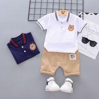 2019 Baby Boys Ropa Moda Summer Boys Ropa Conjunto de algodón camiseta + Pantalones cortos 2pcs Trajes de ropa para niños para 1-5y