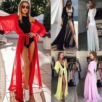 المرأة ملابس النساء الشيفون تغطية طويلة الصيف بحر كارديجان الدانتيل تونك قفطان بيتش