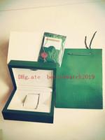 높은 품질의 시계 상자와 함께 슈퍼 시계 상자를 판매 녹색 종이 망 선물 시계 상자 가죽 가방 카드 0.8KG에 대 한