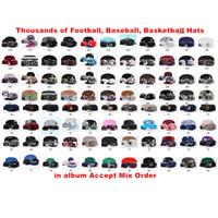 I più nuovi cappelli di Snapback di pallacanestro mettono in mostra tutte le squadre cappucci Tappi registrabili di goccia di calcio delle donne degli uomini più di più di stile 6000+