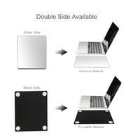 Taşınabilir Alüminyum Alaşım Kaymaz Oyun Mouse Pad Mat Çift Taraflı Doğru Kontrol Mousepad PC Için Çift Yan Mouse Ped 2020 Apple PC için