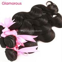 Glamorous Günstige brasilianische Haar-Webart Bundles zum Verkauf indischen peruanischen Malaysian Haar 10Bundles Ursprüngliche Menschliches Haar Weaves für schwarze Frauen