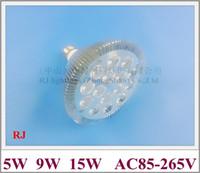Profil de tours Aluminium LED Spot Lampe Lampe Spotlight E27 AC85V-265V INPUT 5W 9W 15W CE ROHS 2019