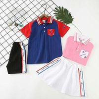Girl Suit Summer Korean Children Dress Pure Cotton Short Sle...