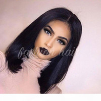 8A Glueless Full Lace Human Hair Bob Wigs For Black Women Br...