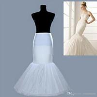 2020 Enagua de sirena al por mayor de alta calidad / slip 1 vestido de boda elástico de hueso de aro trompeta de crinolina