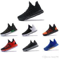 Zapatos de baloncesto Kevin Durant 10 All Star Negro Blanco Bhm University Red City Series Calidad superior Kd 10 Hombres Zapatos de baloncesto Sn