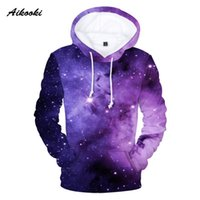 Space Galaxy Hoodies Fashion Personality Beautiful Hooded Sw...
