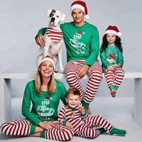 크리스마스 잠옷 홈 의류 잠옷 레저 가을 겨울 의류 성인 어린이와 아기 H007 크리스마스 나이트 가운이 적합 세트 착용