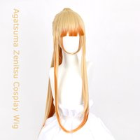 DIANQI new golden yellow cosplay female wigs with light bang...