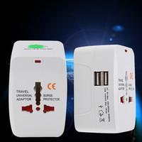 Tutto in un adattatore Universal International Plug Adattatore USB Porta USB World Travel AC Adattatore AC Adattatore con Au US Regno Unito UE Converter Plug