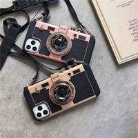 Stereo Retro-Kamera Fall transparenter TPU Stoß- Telefon-Kasten für iPhone 11 Pro Max XR XS MAX 8 Plus sechs Farben