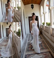 2019 New Berta Wedding Dresses Mermaid Sweetheart Long Sleev...