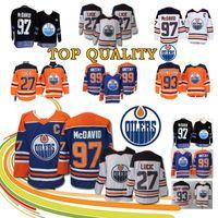 af40ace68 New Arrival. HOT Edmonton OilersPlayers Hockey Jersey 97 Connor McDavid 27  Milan Lucic 93 Ryan Nugent-Hopkins 99 Wayne Gretzky ...