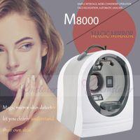 محلل آلة M8000 وجه آلة اختبار الجلد تحليل الجلد المهنية معدات التجميل 110V-240V الرقمي محلل الجلد