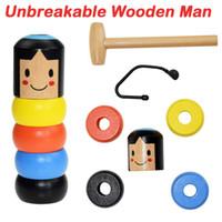 Unbewegliche Tumbler Magie Hartnäckige Wood Man Toy Lustige Unbreakable Toy Zaubertricks Close-up Bühne Magie Spielzeug-Kind-Geschenk