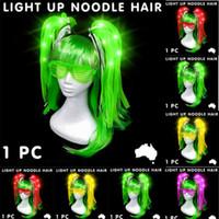 Bunte 1PC LED Perücken glühender Flash-Haar-Flechten-Clip Hairpin Dekoration Ligth Up Show New Year Party Supplies Weihnachten Hollween