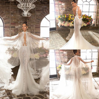 2019 Elihav Sasson Mermaid Wedding Dresses With Wrap Lace Ap...