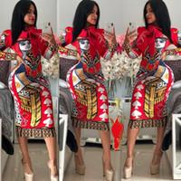 Модное платье 2020Women Стремясь вечернее платье Trend Pattern Pattern Multi стилей BodyCon Цветочный принт Женский Полиэстер Размер S-2XL 5 Стилей-